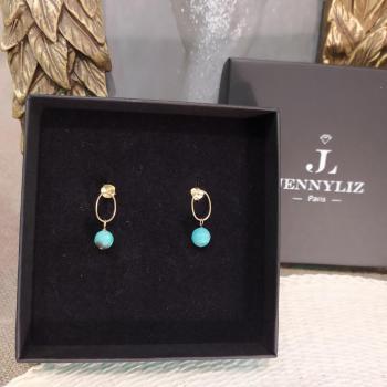 Boucles d'oreilles en Argent avec turquoise