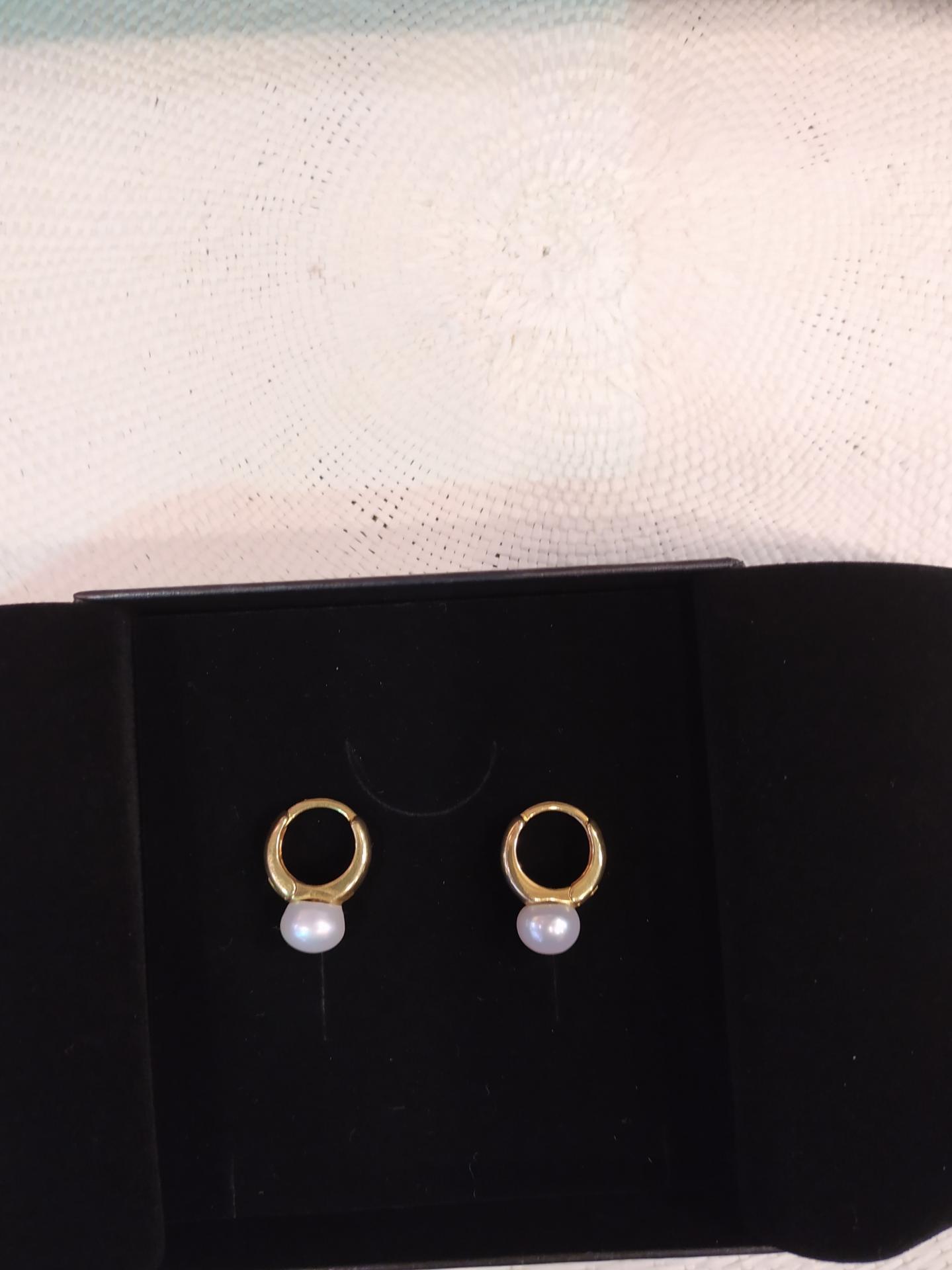 Bo avec perles de cultures 49 eur 4 79 gr perles diam entre 8 a 9 mm