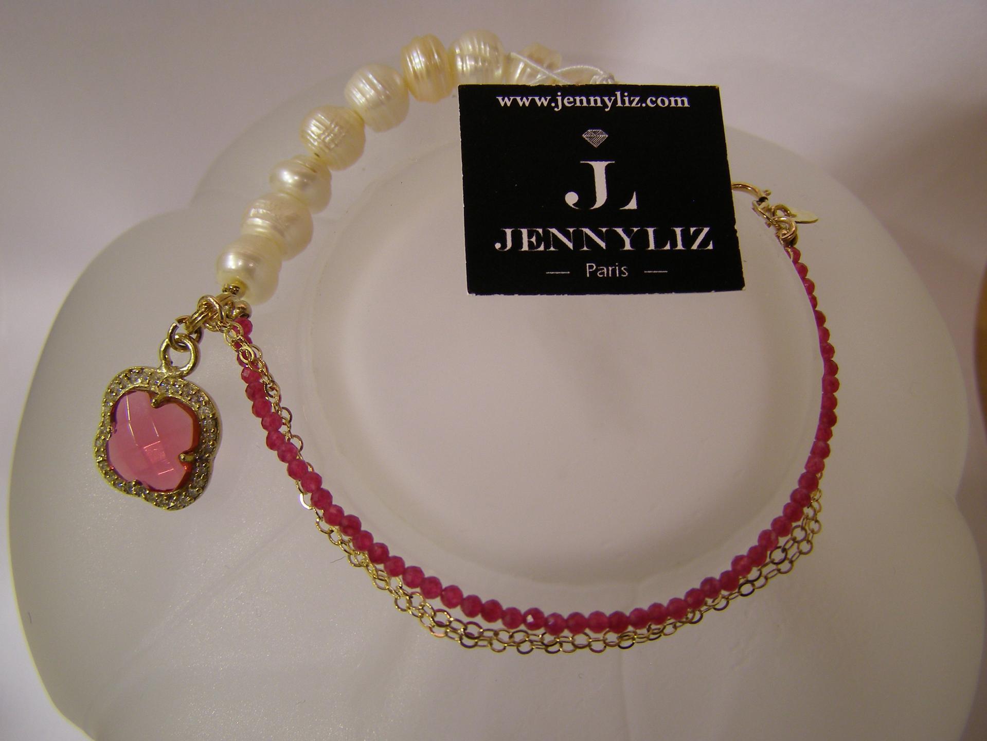Bracelet caroline 20cm 62 eur 1 15gr perles naturelles et rubellite