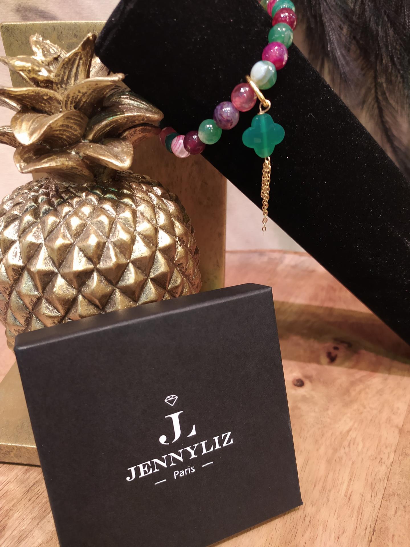 Bracelet jade de couleur diff appret vert fonce 1