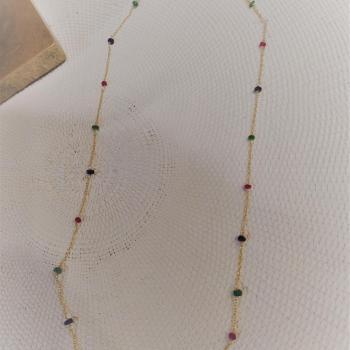 Collier pierres précieuses ref 361