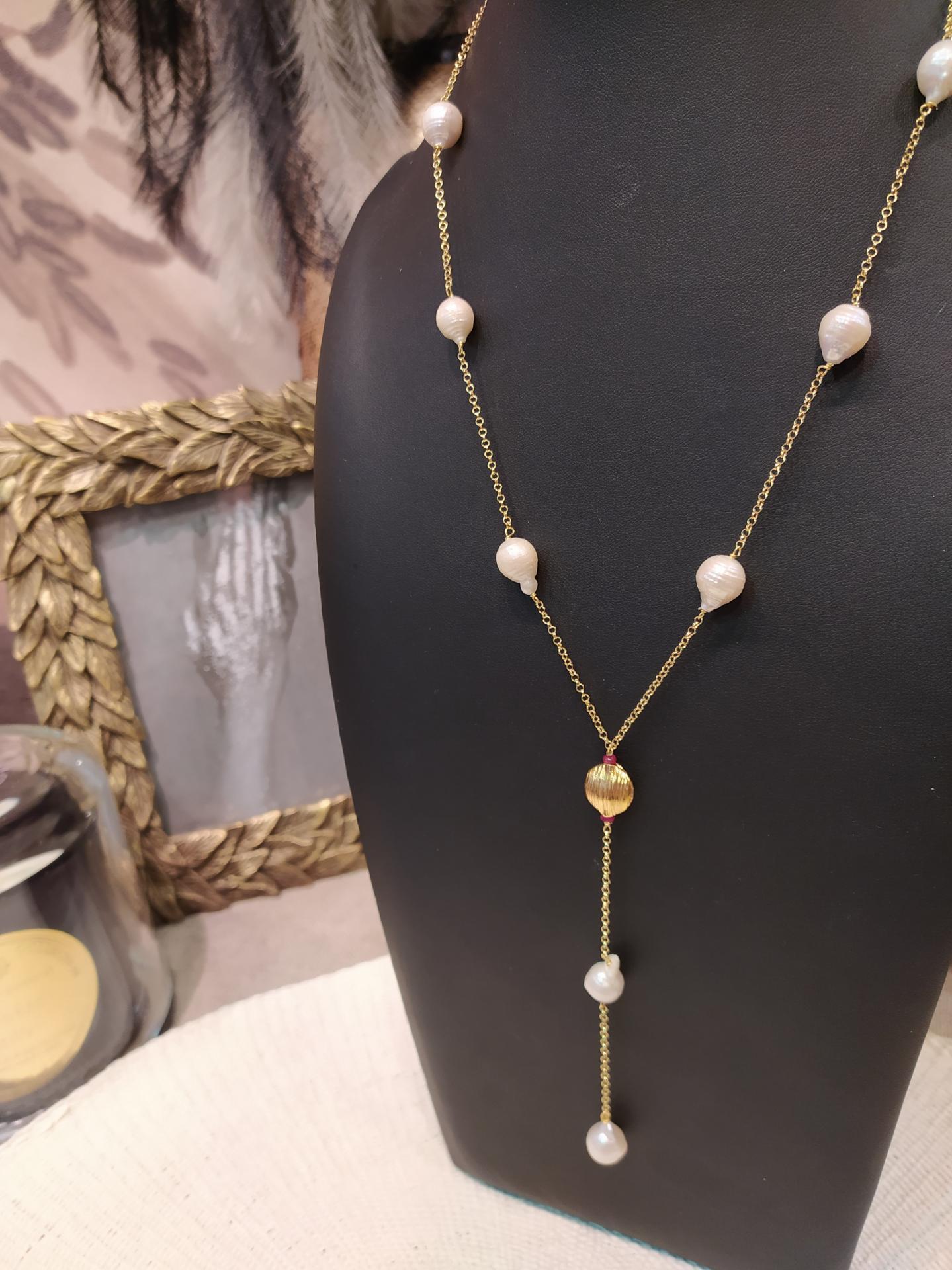 Collier perles baroques ref 366 4 40 gr prix 145 eur ras de cou 48 cm plus 9cm de 1