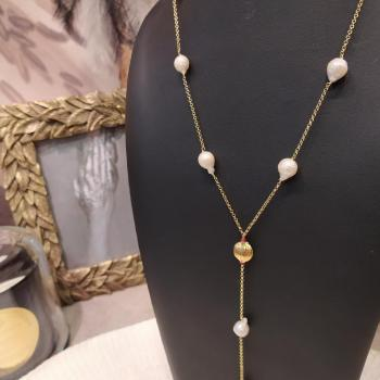 Collier perles baroques ref 366
