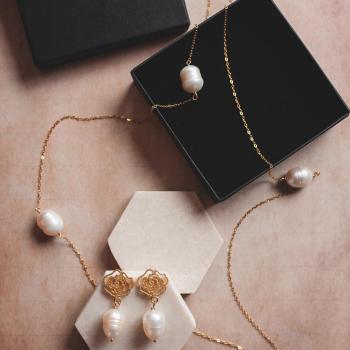 Sautoir en Argent  & perles Candice