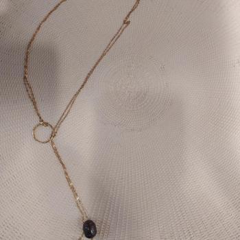Sautoir Argent perles naturelles ref 193